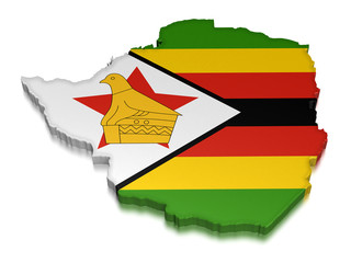 Zimbabwe (clipping path included)