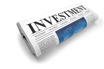 newspaper with investment