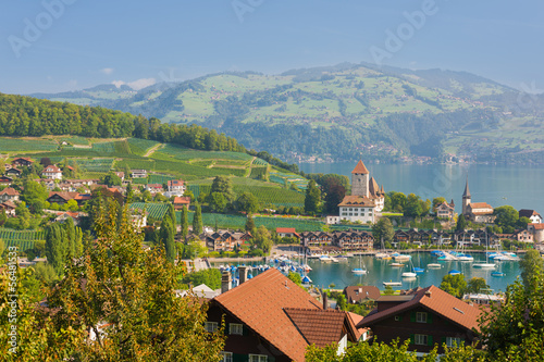 Spiez in a september day