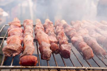 Chile - fiestas patrias -  anticuchos alla griglia