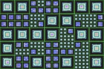Blue Green Grid Background