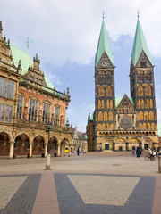 The Market square in Bremen