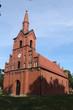 Leinwandbild Motiv Dorfkirche von Quitzöbel in der Prignitz