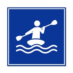 Cartel simbolo piragüismo