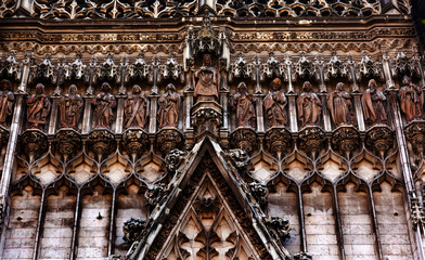 Christ Disciples Statues Facade Seville Cathedral Spain