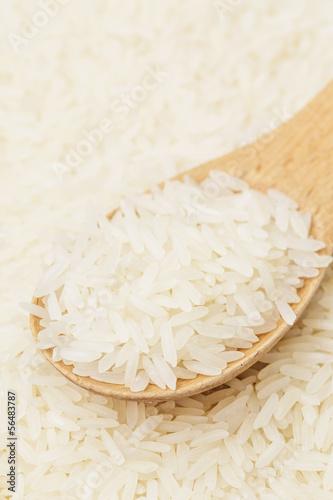 White rice on teaspoon