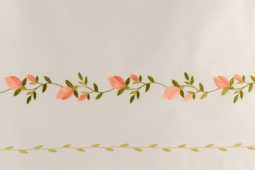 Turkish handmade fresco on special white fabric
