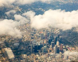 fototapeta Houston Texas pejzaż widok z lotu ptaka