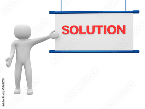 Solution concept.Isolated on white background