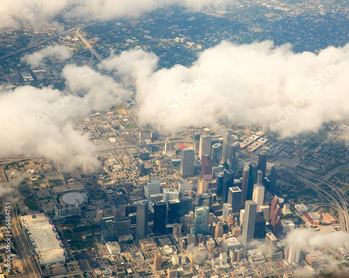 Foto op Canvas Texas Houston Texas cityscape view from aerial view