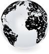grunge globe