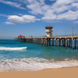 Huntington beach Surf City USA pier view