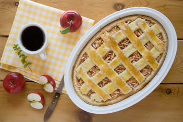 Pie pastry with apples