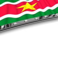 Designelement Flagge Surinam