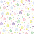 Seamless Flower Vector Background