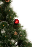 New year tree with ball isolated