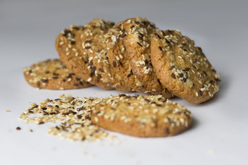 Festive oat cookies with sesame
