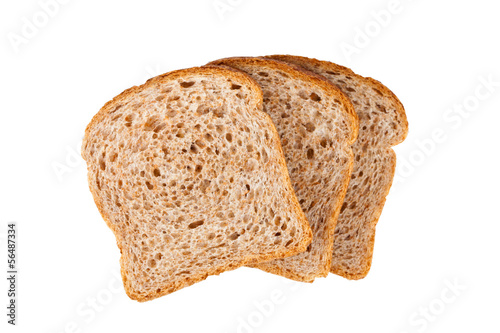 Poster Brood three fresh bread slices