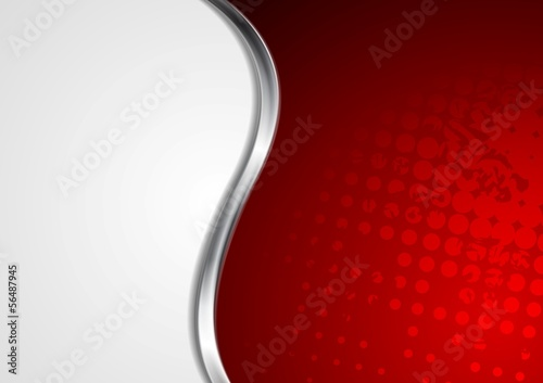 Vector waves metallic abstract background
