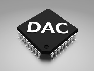 (DAC or D-to-A) Digital to analog converter