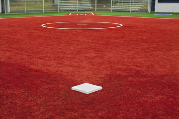 Baseball Second Base Towards Home Plate