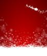 Weihnachtskarte Schnee Rentier