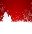 Weihnachtskarte Schnee Bäume