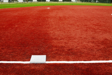 Baseball Third Base Towards Second