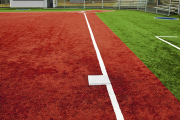 Baseball Third Base Towards Home Plate