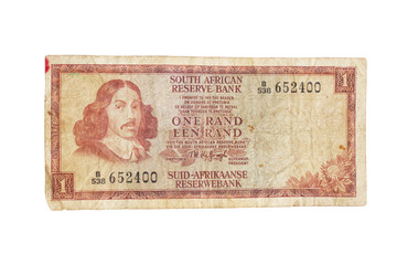 Vintage South African 1970s Bank Note