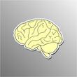 Brain IQ Sticker Icon Web Banner