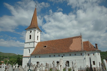 Catholic church in Sibiel, Transylvania