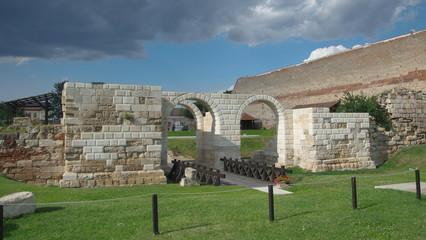 """The castrum gate """"Principalis Dextra"""", Alba Iulia"""