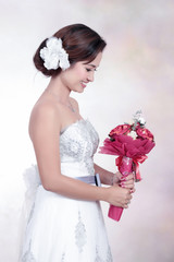 Bride With Wedding Dress