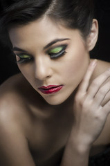 Fashion makeup portrait young woman