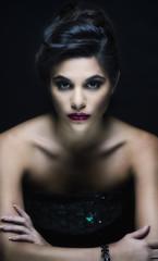 Fashion makeup portrait young woman