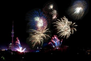 Feuerwerk, Olympiastadion München