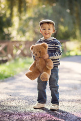 Boy with a teddy bear