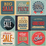 Sale Set. Vector Illustration