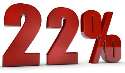 percent,22