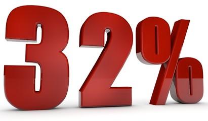 percent,32