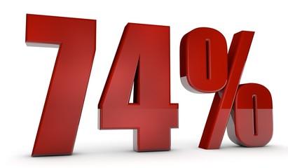 percent,74