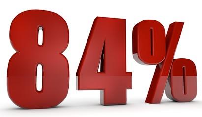 percent,84