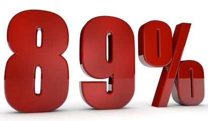 percent,89