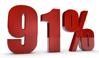 percent,91