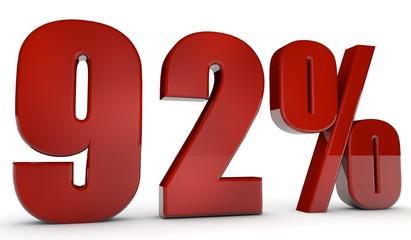 percent,92