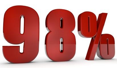 percent,98