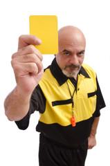 Advertencia! Tarjeta amarilla, riesgo de expulsión.
