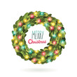 Christmas garland wreath vector image