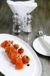 fresh salmon with cherry tomatoes